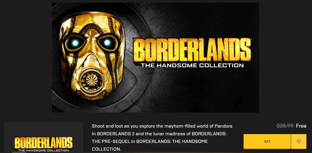 mendapatkan borderland epic game store